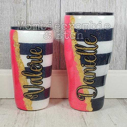 Gold Flake - Stripes Tumbler