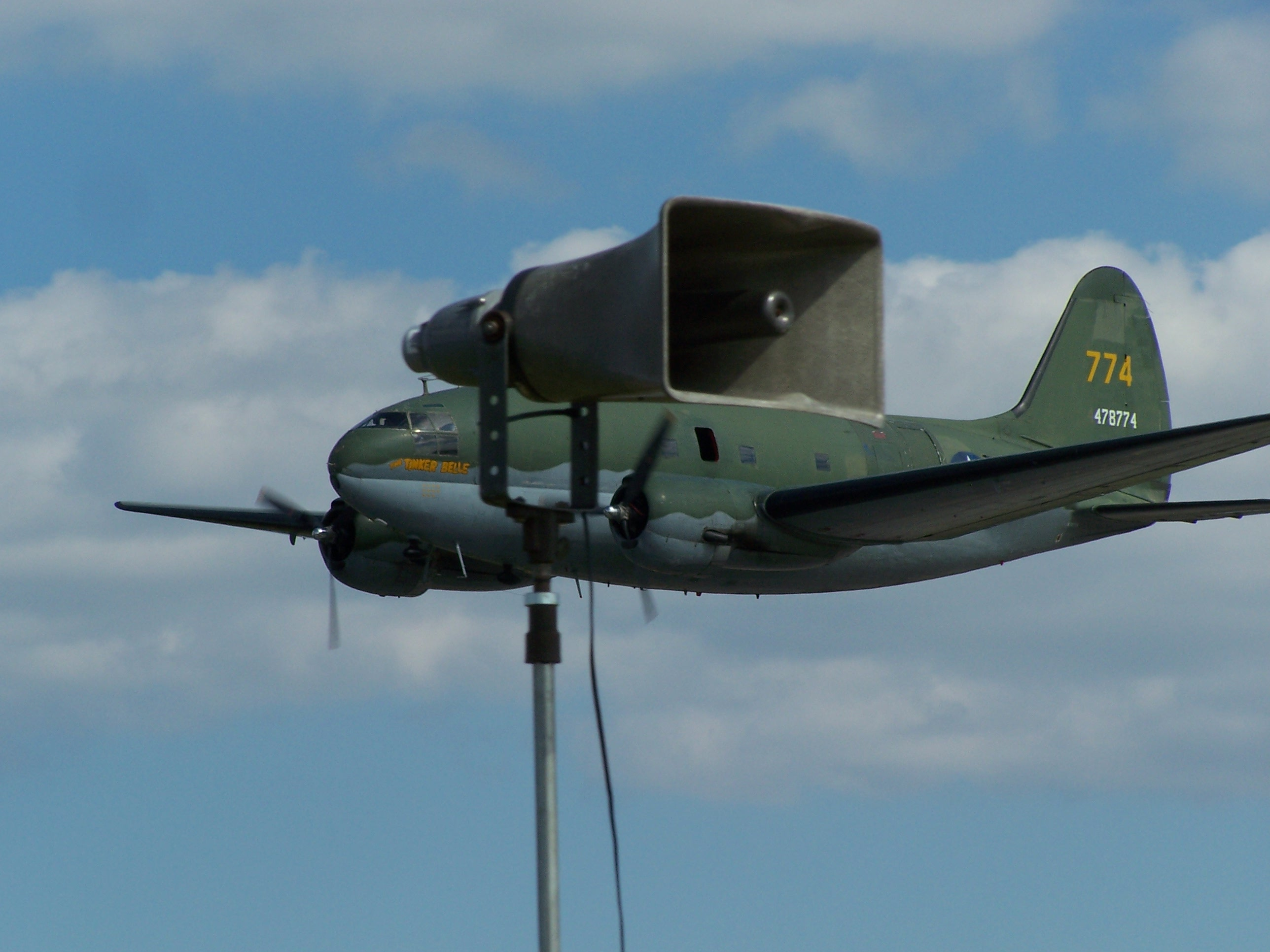 cargo plane and horn