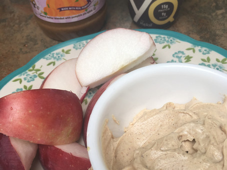 Fluffy Pumpkin Peanut Butter Dip -