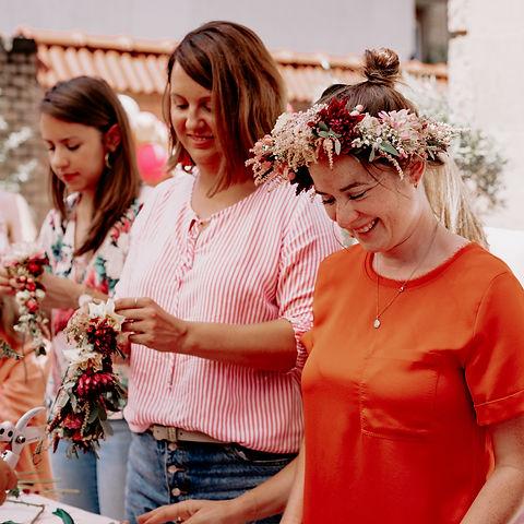 florales floral workshop flower crown blumenkranz blumen party