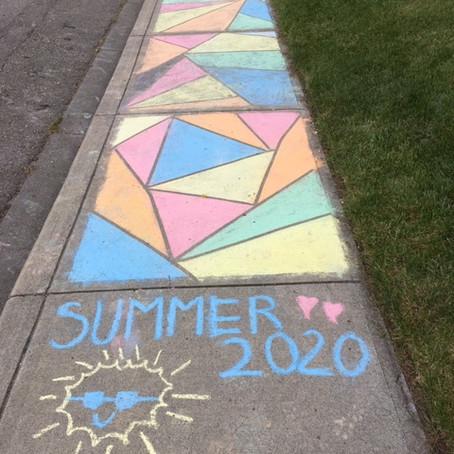 Sidewalk Art: A Perk of the Pandemic