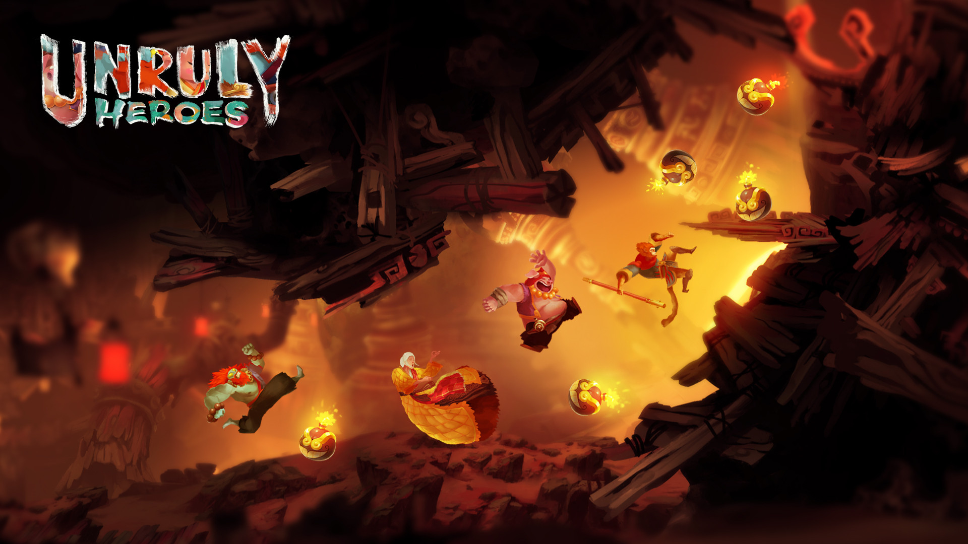 Unruly Heroes  Flaming Moutain Screenshot