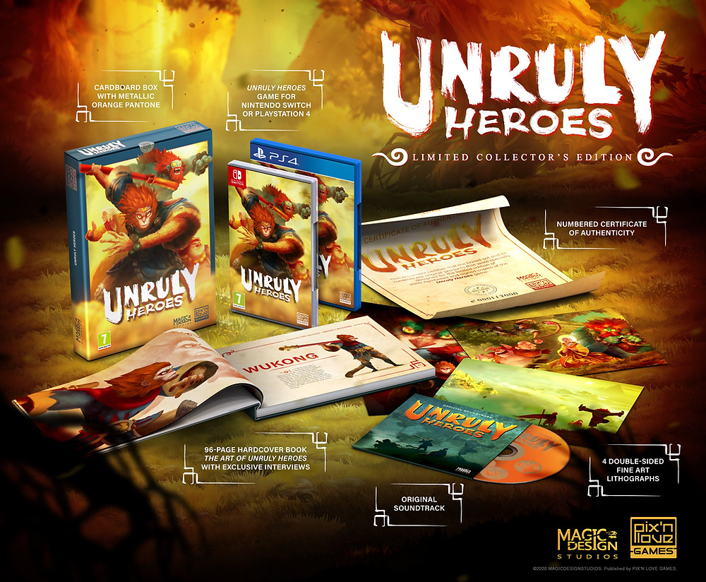 Unruly Heroes Limited Physical Edition Collector