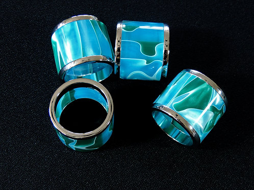 Hand-Turned Acrylic Napkin Rings