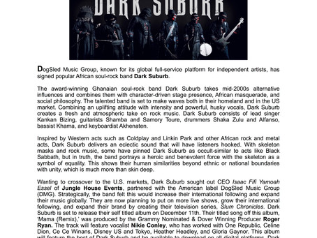 Africa's quickly rising soul-rock band Dark Suburb signs with DogSled Music Group