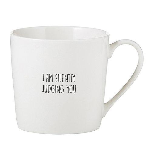 Cafe Mug - Silently Judging
