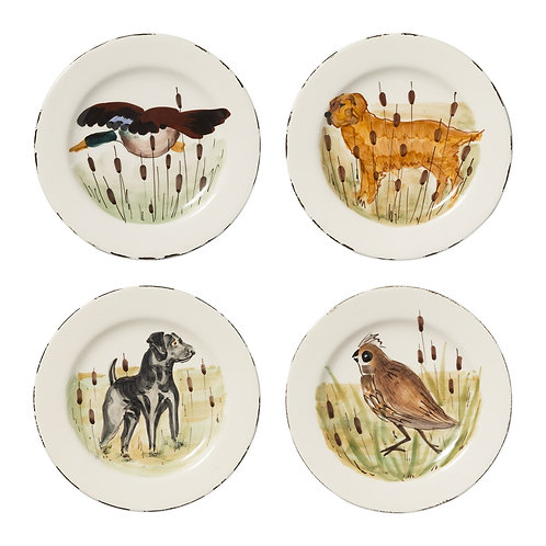 WILDLIFE ASSORTED SALAD PLATES