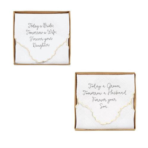 Boxed Wedding Handkerchiefs