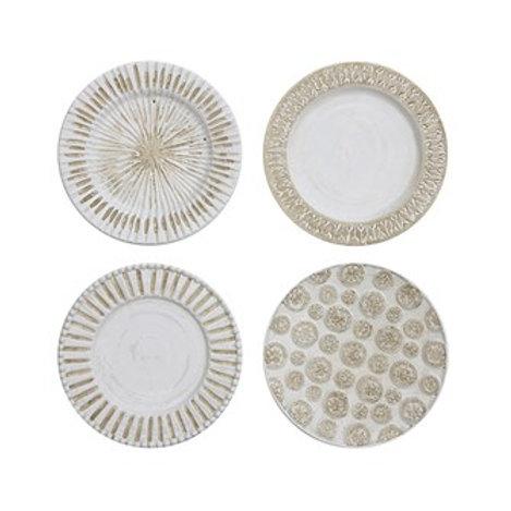 "16"" Round Decorative Ceramic Wall Plate w/ Hanger"