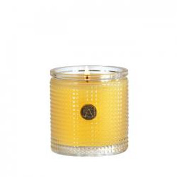 Agave Pineapple Textured Glass Candle