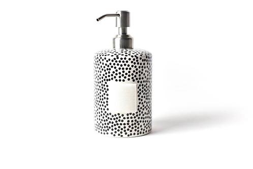 Black Small Dot Mini Cylinder Soap Pump
