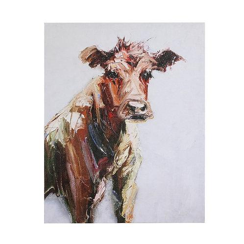 Canvas Wall Decor w/ Cow