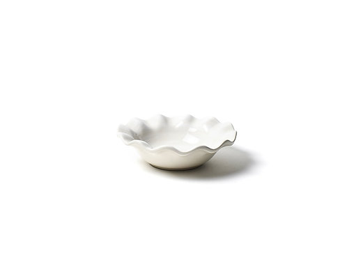 Signature White Ruffle Flare Small Bowl