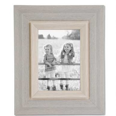WOODEN GREY PHOTO FRAME