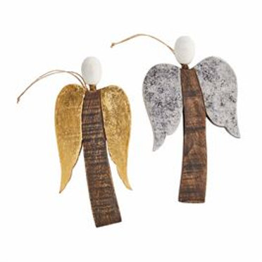 FOILED ANGEL ORNAMENTS