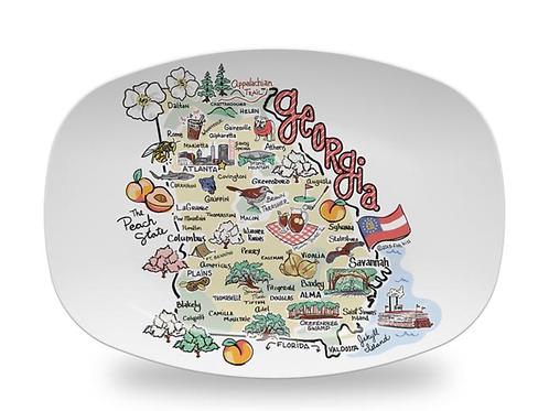 Georgia Map Platter