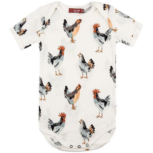 Chicken Organic Cotton One Piece