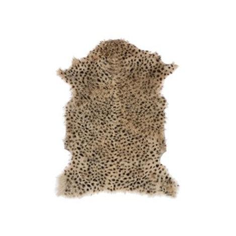 Goat Fur Rug, Leopard Print