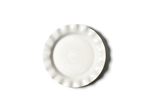 Signature White Ruffle Dinner Plate