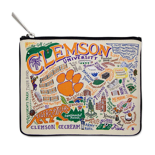 Clemson University Collegiate Zip Pouch