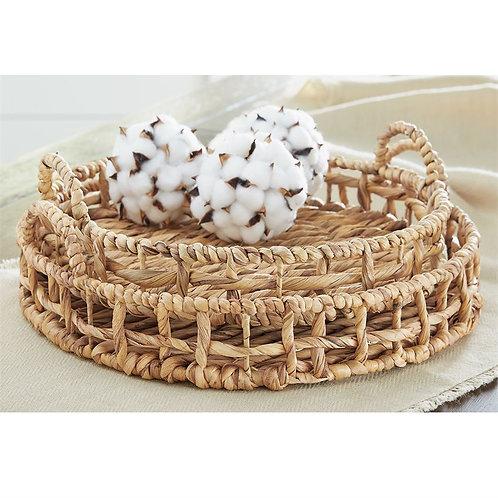 Round Hyacinth Basket Set