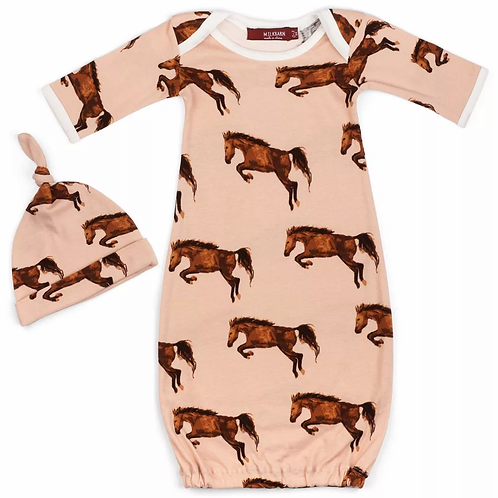 HORSE NEWBORN CAP AND GOWN