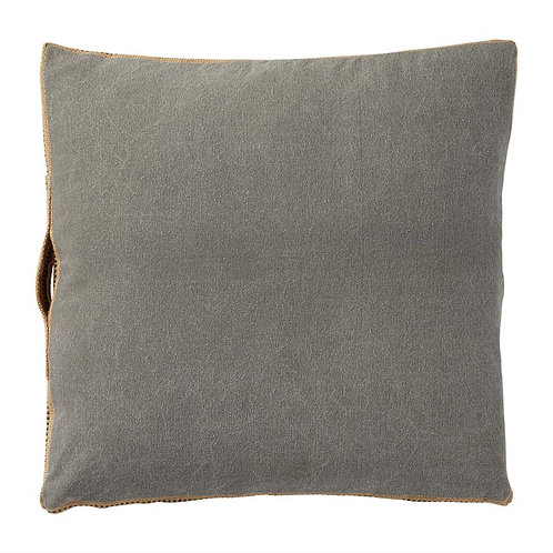 GRAY JUTE WEBBING PILLOW