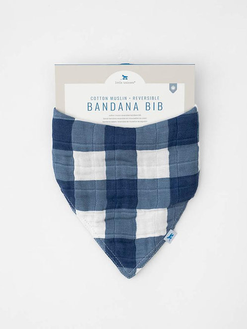 Cotton Muslin Reversible Bandana Bib - Jack Plaid