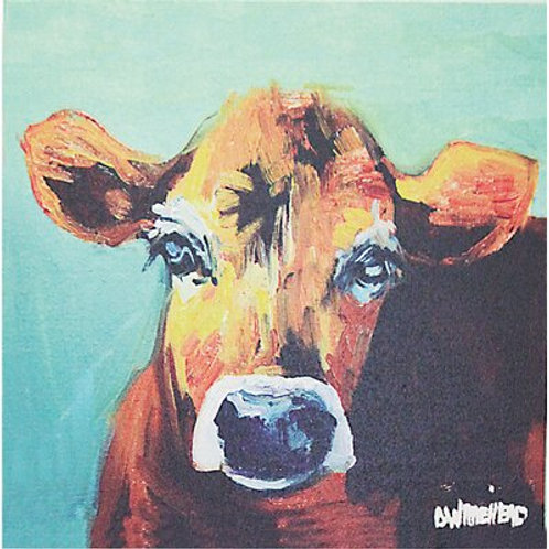 Bess Cow Canvas