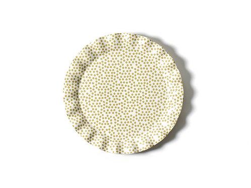 Cobble Small Dot Ruffle Round Platter
