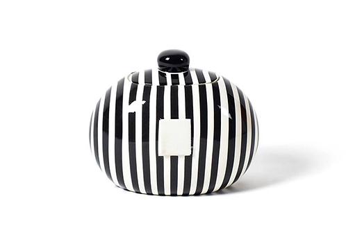 Black Stripe Mini Cookie Jar