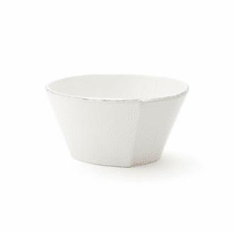 Vietri Lastra White Stacking Cereal Bowl