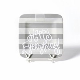 Happy Everything Stone Stripe Mini Platter