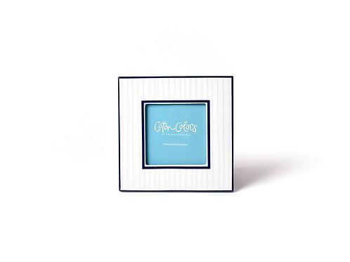Blue Pinstripe Square Frame