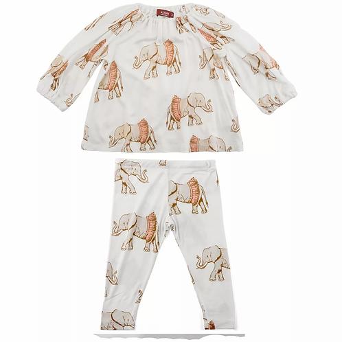 ELEPHANT IN TUTU DRESS & LEGGING SET