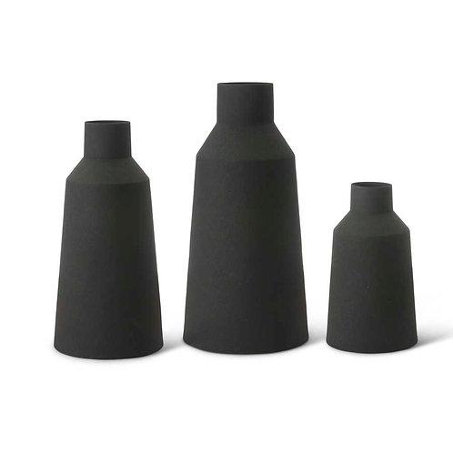 Black Matte Metal Vases