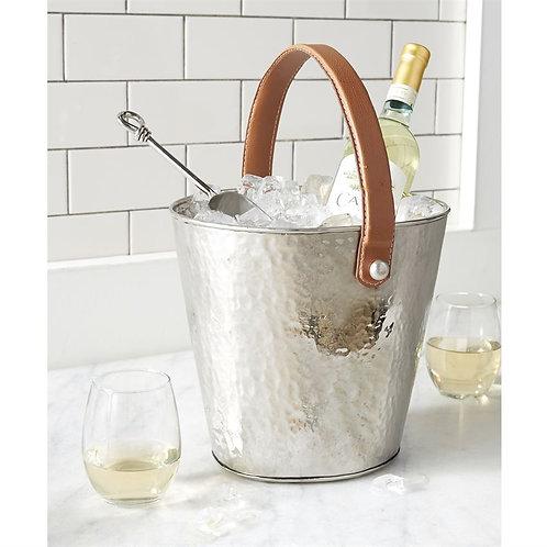 Hammered Metal Wine Cooler Bucket Set