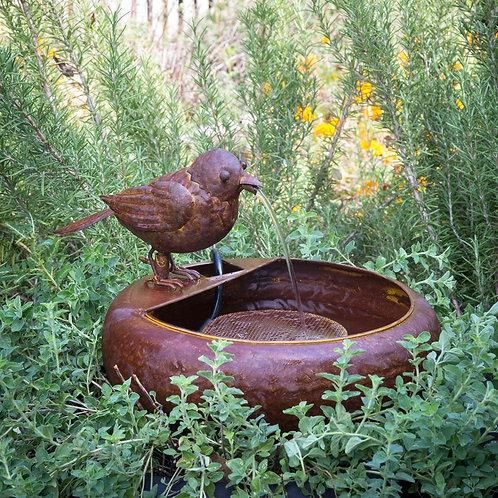 Folk Art Little Bird Fountain
