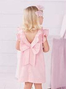 PINK FAILLE DRESS 2T