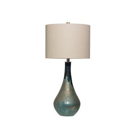 Glass Table Lamp, Green Opal Finish