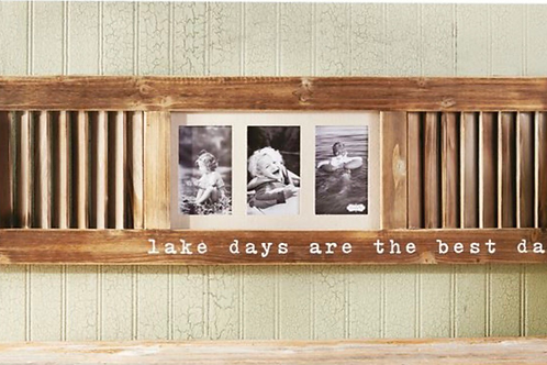 Sale LAKE DAYS TRIPLE PICTURE FRAME SHUTTER