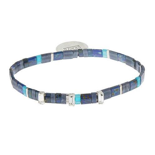 Good Karma Miyuki Charm Bracelet - Brave