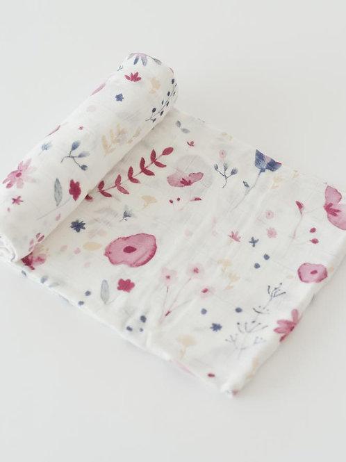 Deluxe Muslin Swaddle Blanket - Fairy Garden