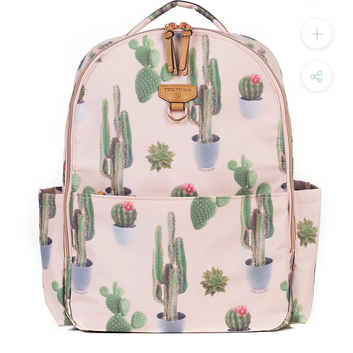 On the Go Backpack-Cactus print