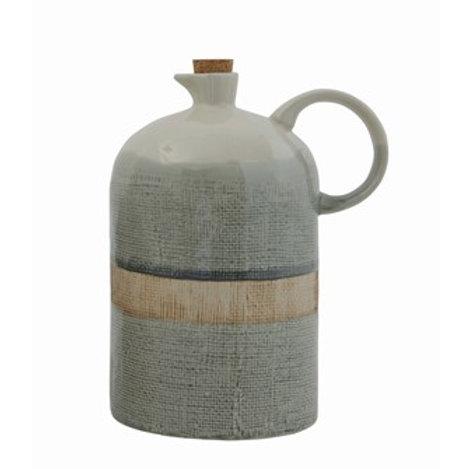 Ceramic Jug w/ Cork Stopper