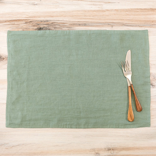 Soft Linen Placemat, Sage Green