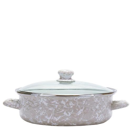 Taupe Swirl Small Saute Pan