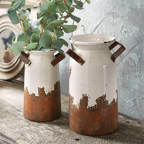 Crackle Terracotta Urns