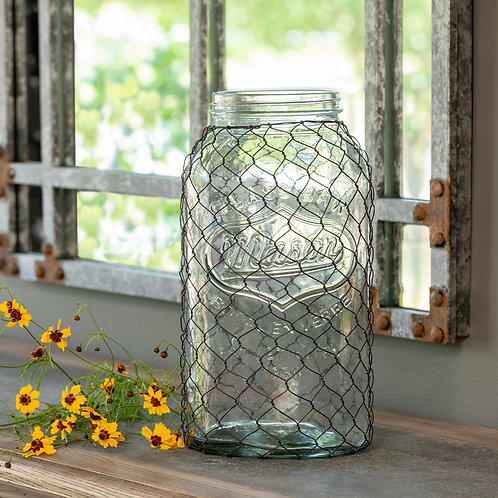 Canning Jar with Poultry Wire, Extra-Large