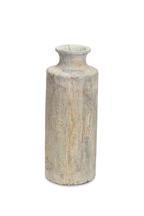 Gray Distressed Vase